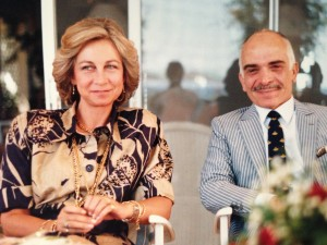 Their Majesties Queen Sophie of Spain and King Hussein of Jordan