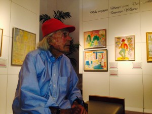 David Wolkowsky at the Tennessee Williams exhibit, Key West, Florida January 2014