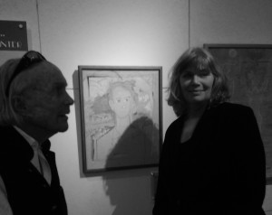 David Wolkowsky and Kelly McGillis at the Tennessee Williams exhibition at the Custom House Museum, 281 Front Street, Key West, Florida